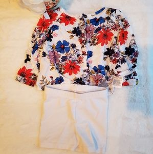 2 piece floral blouse set